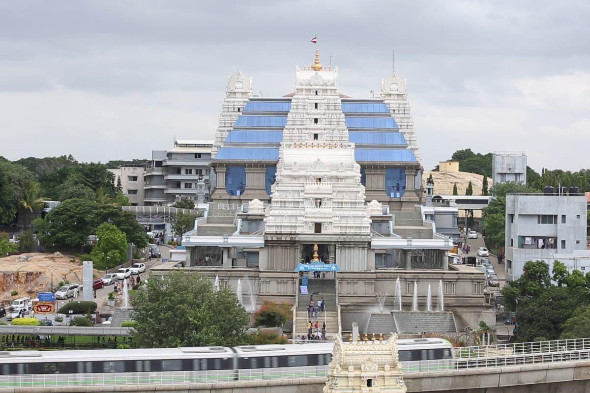 Iskcon Bangalore Temple View