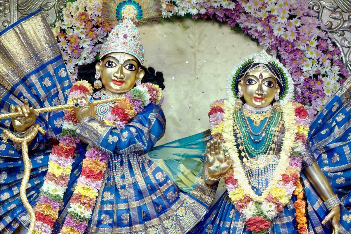 Sri Radha Krishnachandra in blue dress