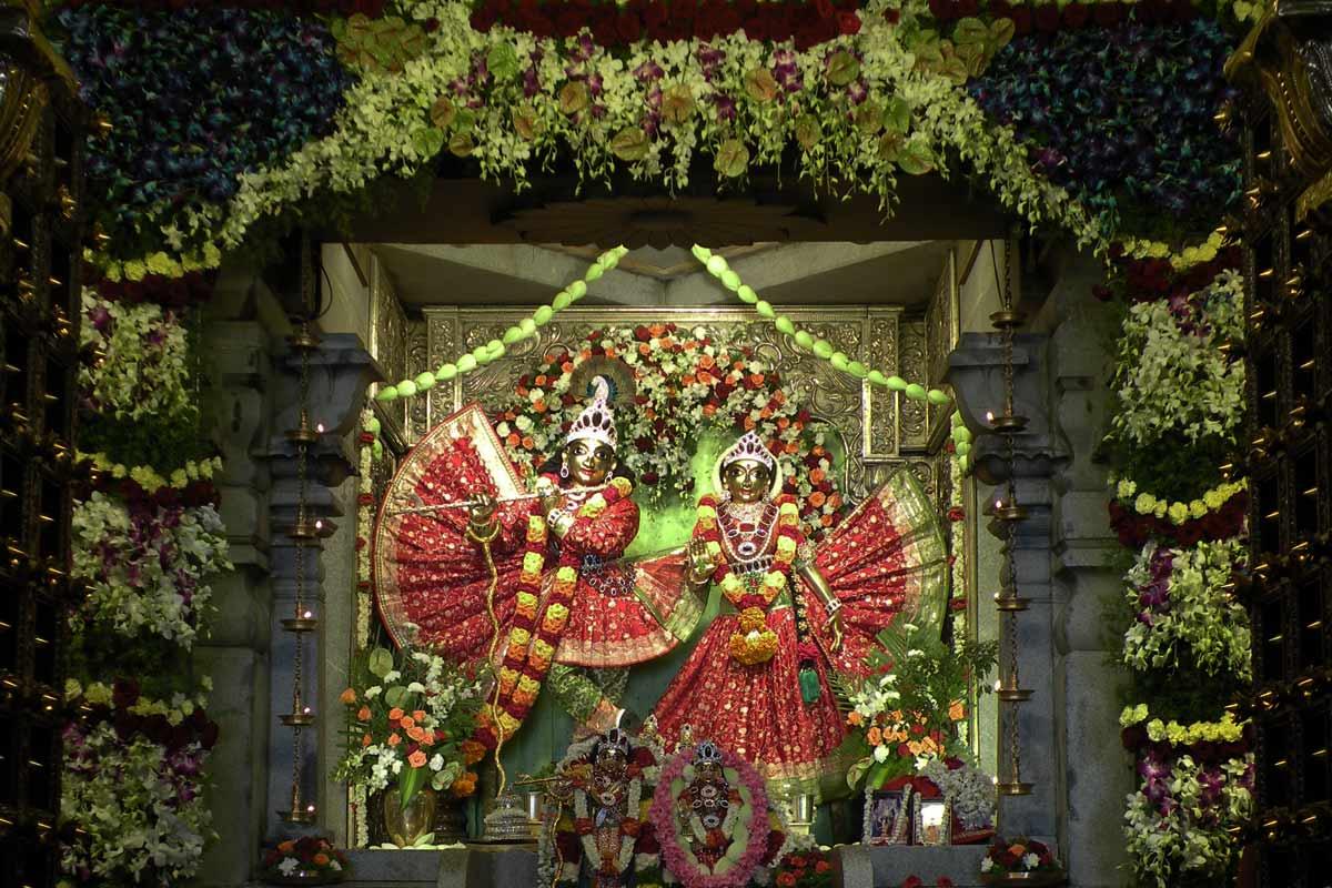 Sri Radha Krishnachandra specially decorated on Janmashtami