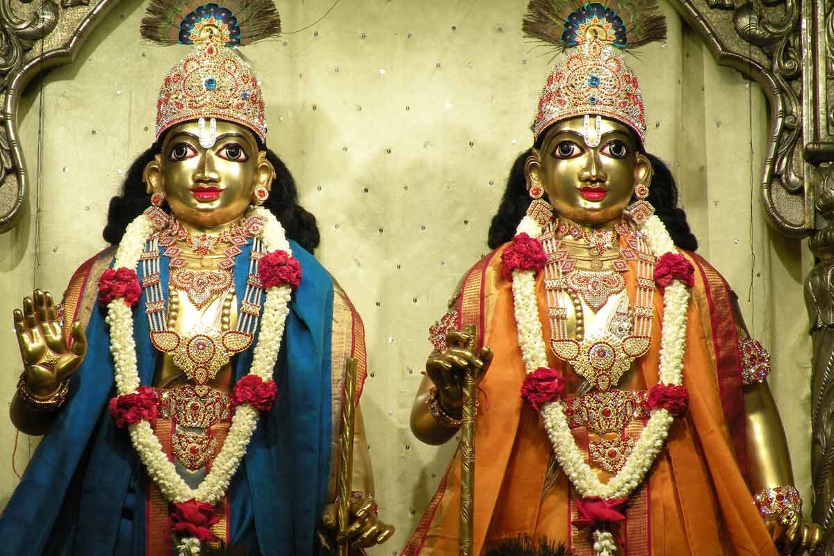 Sri Sri Krishna Balarama Iskcon  Bangalore Deity