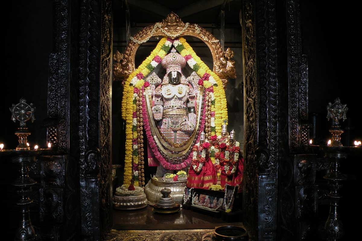 Sri Srinivasa Govinda specially dressed on Vaikuntha Ekadashi