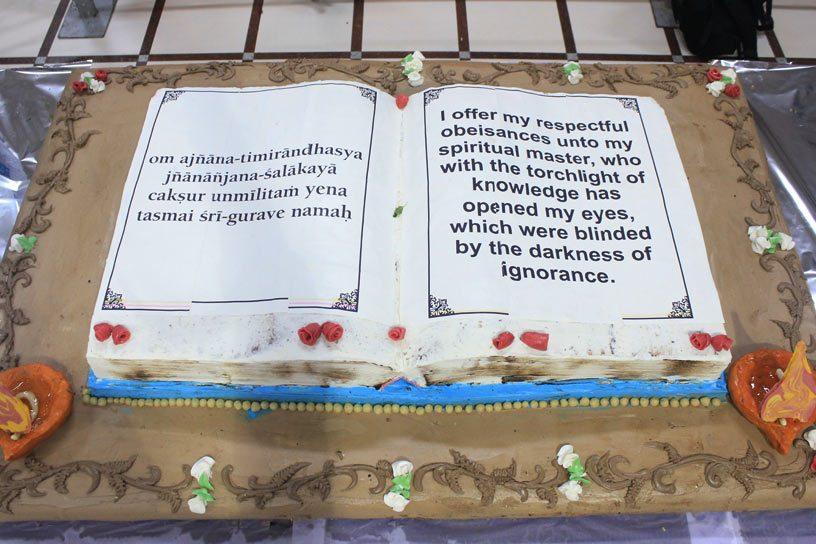 Vyasa Puja cake offering