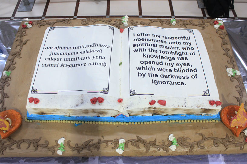Vyasa Puja cake offering
