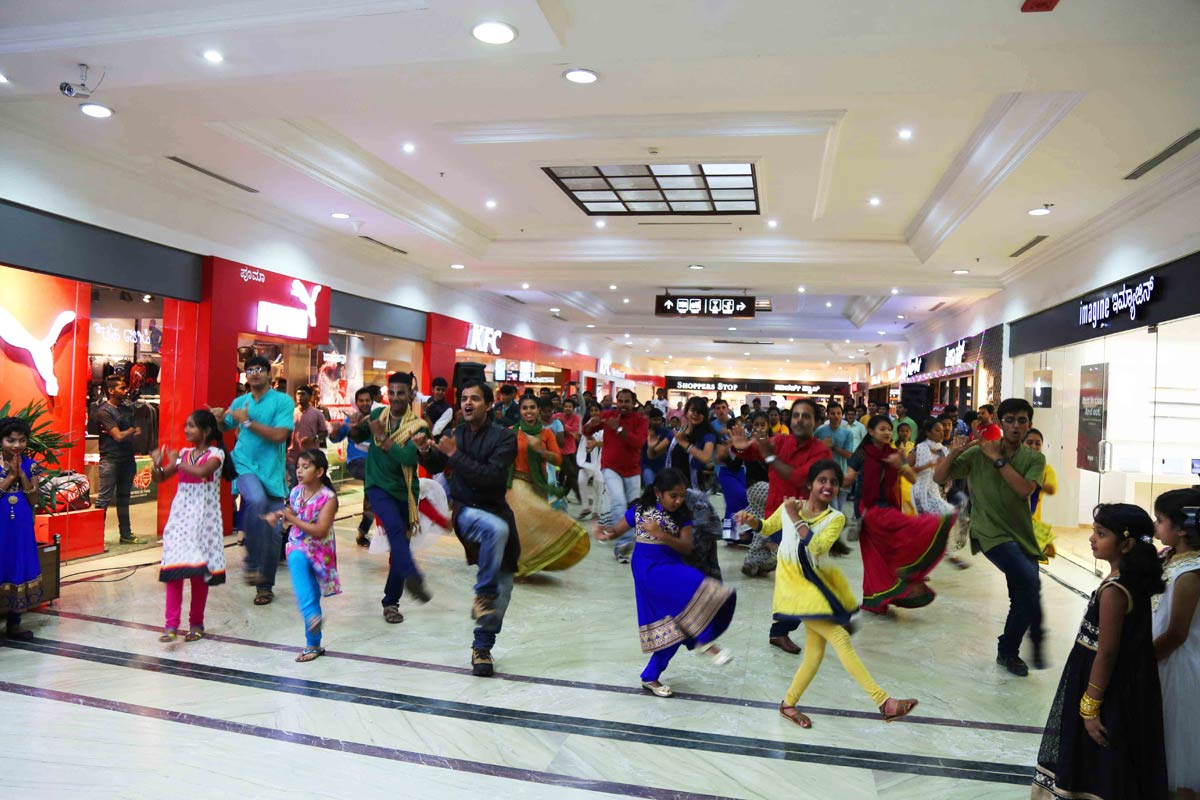 Hare Krishna Flash mob at garuda mall