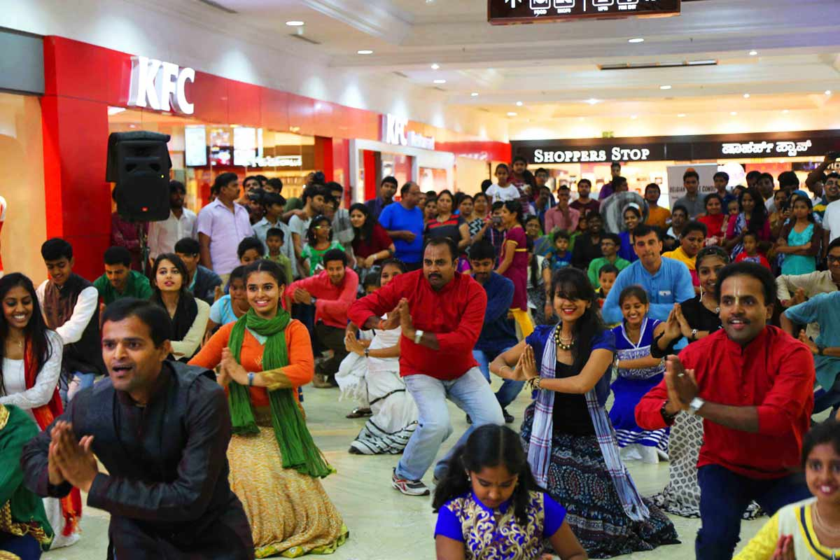 Hare Krishna Flash mob at Mantri square
