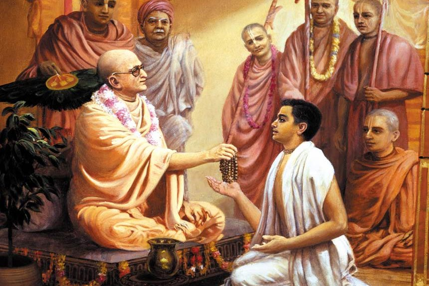 prabhupada meeting his spirutal master