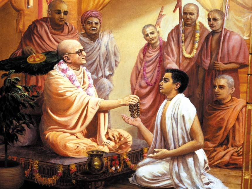 prabhupada meeting his spirutal master