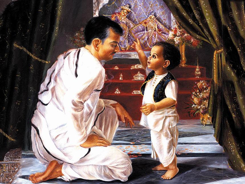 prabhupada with his dad