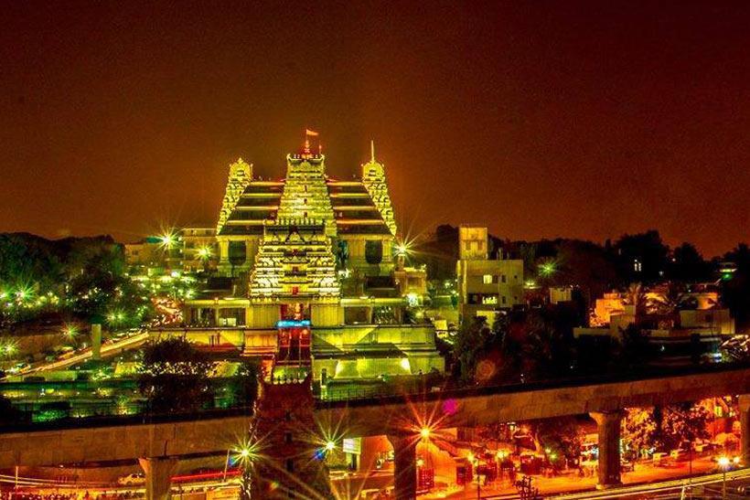 ISKCON Temple Night view
