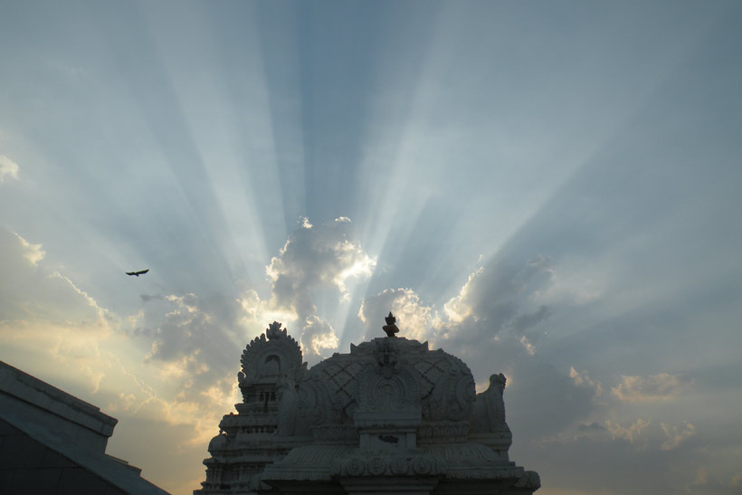 Sunrise view from ISKCON Temple