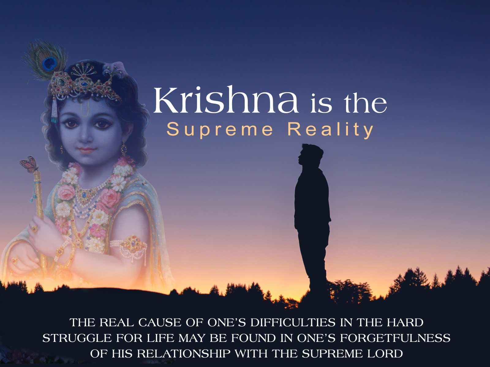 wallpaper krishna is the supreme reality