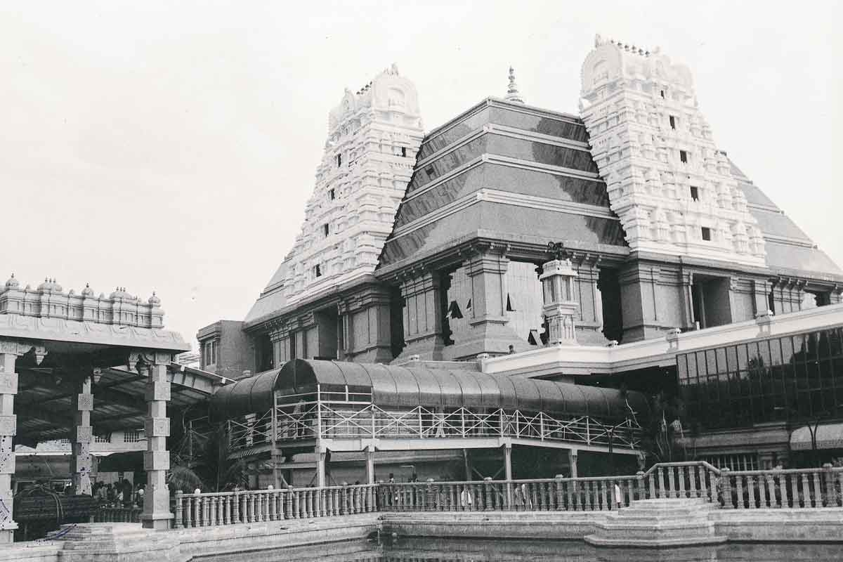 ISKCON Bangalore in Black and White