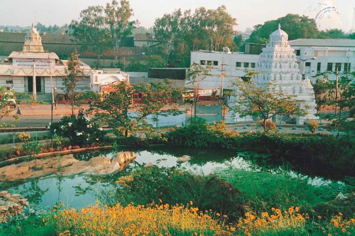 Temple Pond  of ISKCON Bangalore