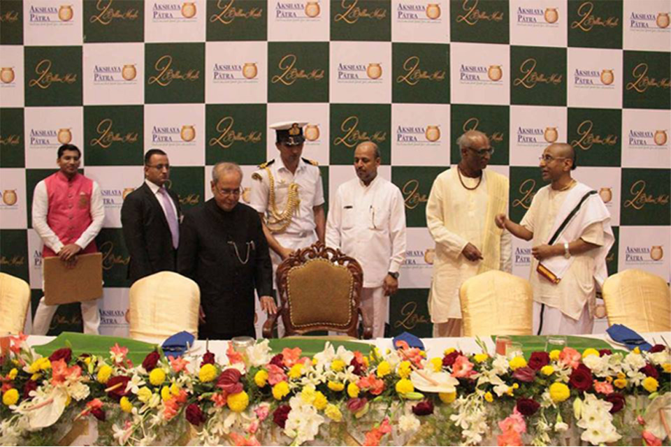 president visit to iskcon bangalore