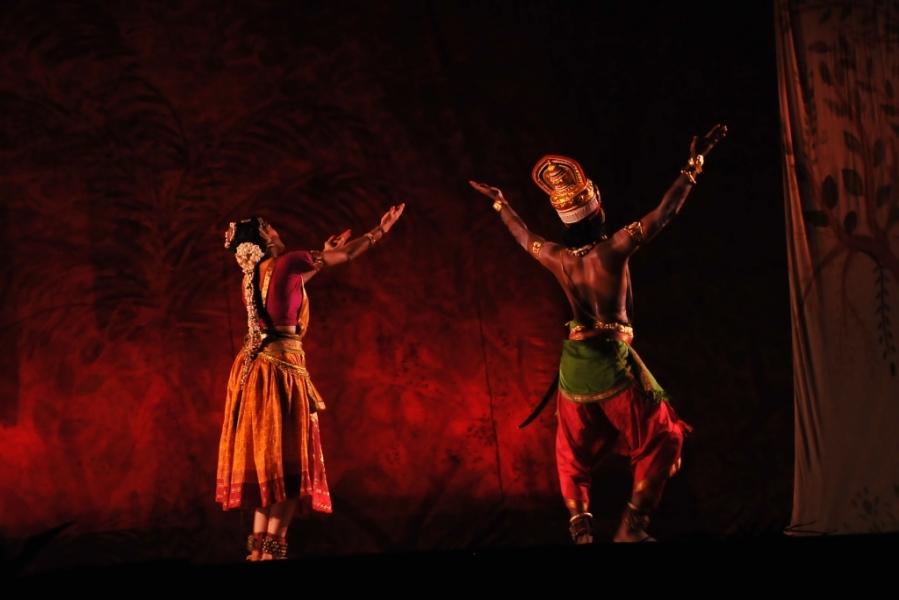 Sita being abducted by Ravana