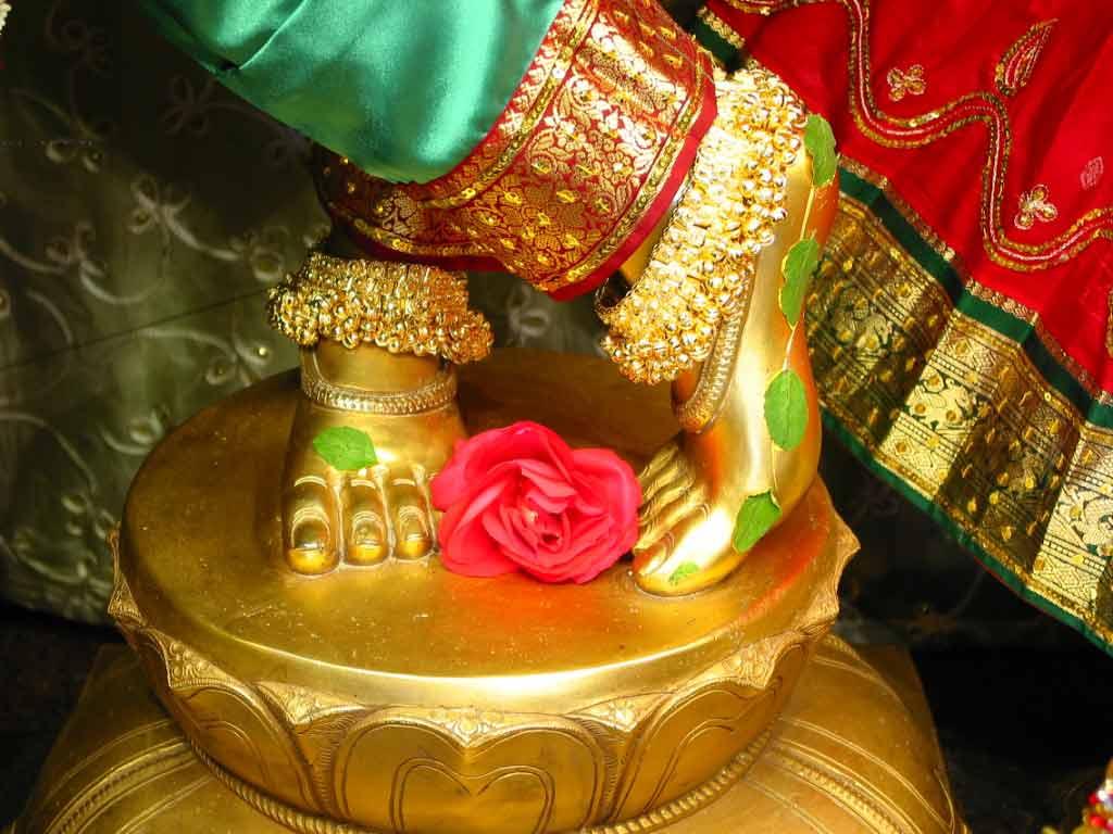 Sri Radha Krishnachandra in white dress