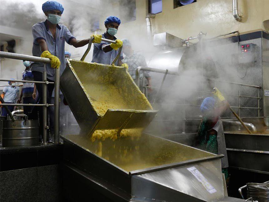 Visit to Akshaya Patra's kitchen